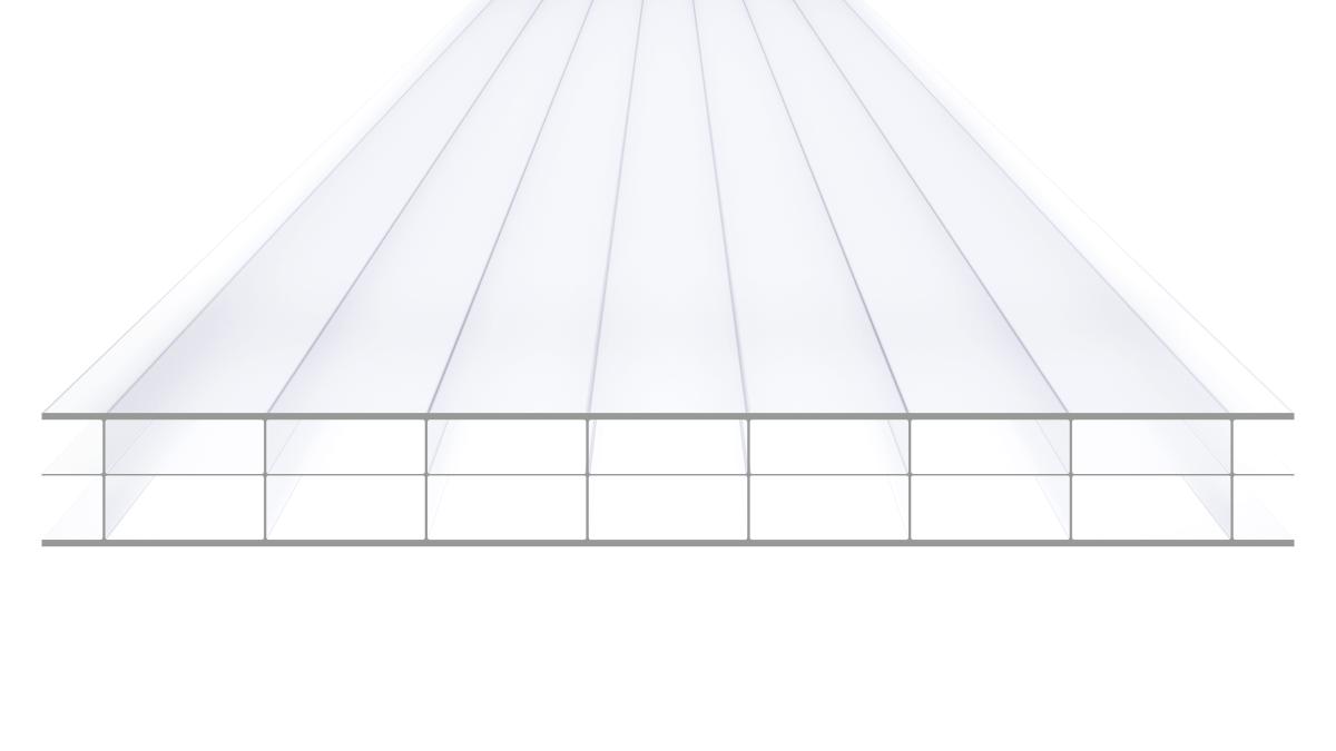 MAKROLON® multi UV 3/16-20 Stegplatte klar