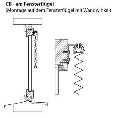 CB - Montage am Fensterflügel