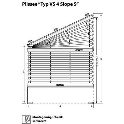 Plissee VS 4 Slope S